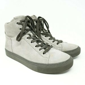 All Saints High Top Sneakers Crescent Gray Suede